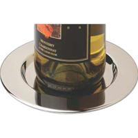 Pratique Wine Bottle Coasters, Stainless Steel, Set of 4