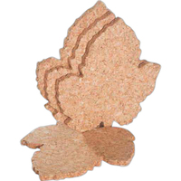Cork Coaster, Grape Leaf Shape, Set of 4