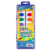 16 Color Washable Watercolor Paint Set