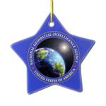Star shape ceramic ornament