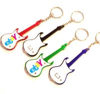 Guitar shape LED bottle opener keychain