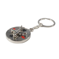 Spinning Airplane Keytag