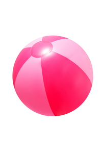 "16"" Inflatable Pink Double Shaded Beach Ball"