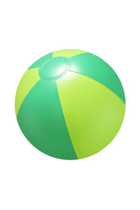 "16"" Inflatable Green Double Shaded Beach Ball"