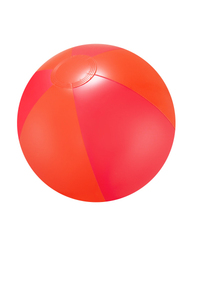 "16"" Inflatable Red Double Shaded Beach Ball"