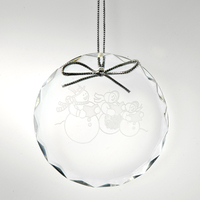Award-Optic Crystal Christmas Ornament