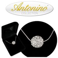 Tiffany's inspired 12 mm Swarovski Crystal Pendant