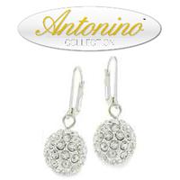 Tiffany's inspired 12 mm Swarovski Crystal Pendant earrings