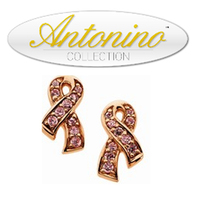 BCA ribbon gold plated Swarovski Crystal earrings