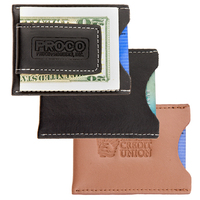Concord Leather Magnetic Money Clip Card Case
