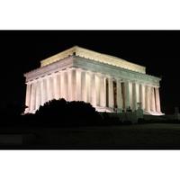 Holiday Card - Lincoln Memorial at Night
