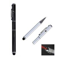 3-in-1 Laser Pointer Metal Cap Off Ballpoint Stylus Pen