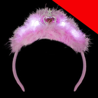 LED Feather Tiara Headband Light Up