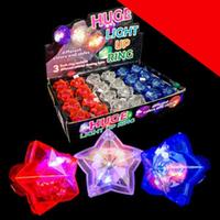 LED Star Gem Rings - Assorted Light Up