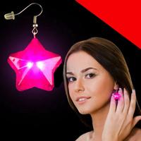 LED Star Earrings Light Up