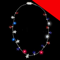 LED Light Up Stars Necklace Light Up