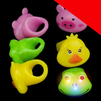 LED Jelly Animal Rings - Assorted Light Up