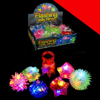 LED Jelly Rings - Assorted Styles Light Up