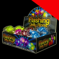 LED Jelly Rings - Assorted Light Up