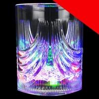 LED 6 oz Crystal Glass - Multicolor Light Up