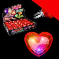LED Jumbo Heart Rings - Red Light Up