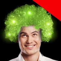 LED Afro Wig Light Up
