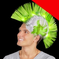 LED Mohawk Wig Light Up