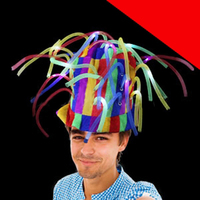 LED Noodle Hat - Multicolor Light Up