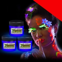 Glominex Glow Body Paint 1oz Jar Light Up