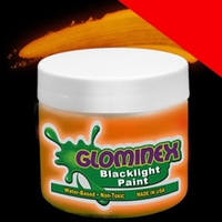 Glominex Blacklight UV Reactive Paint 8oz Jar Light Up