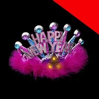LED Happy New Year Tiara Light Up
