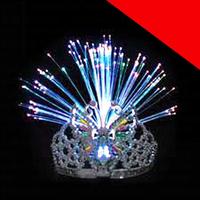 LED Fiber Optic Tiara Light Up