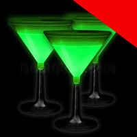 Blank Glow Martini Glass Light Up