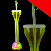 LED Drinking Bottle with Straw Light Up