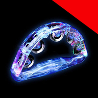 LED Tambourine 8 Inch Light Up
