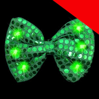 LED Sequin Bow Tie - Light Up