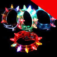 LED Spike Bracelets - Assorted Light Up