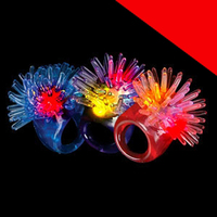 LED Jelly Porcupine Rings - Assorted Light Up