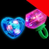 LED Jumbo Gem Rings - Assorted Light Up