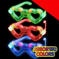 LED Heart Eyeglasses - Assortment Light Up
