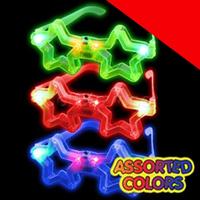 LED Star Eyeglasses - Assortment Light Up
