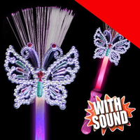 LED Fiber Optic Butterfly Wand Light Up
