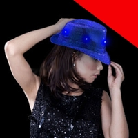 LED Sequin Fedora Light Up