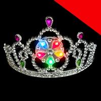 LED Light Up Tiara - Multicolor Light Up