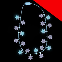 LED Light Up Snowflakes Necklace Light Up
