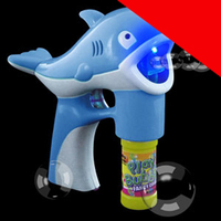 LED Bubble Gun - Blue Dolphin Light Up