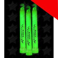 6 Inch Premium Happy Halloween Glow Sticks Light Up