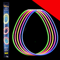 22 Inch Retail Packaged Glow Necklaces - Assorted Light Up