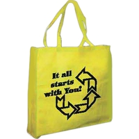 100% recycled nonwoven flat tote