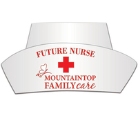 Nurse Hat with Elastic Band